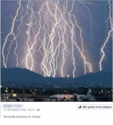 Supuesta tormenta en la ciudad de Trujillo y otras ciudades del país