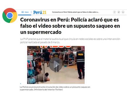 Supuesto asalto en un supermercado en medio de pandemia de Coronavirus